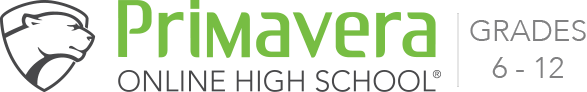 Primavera Online High School Logo